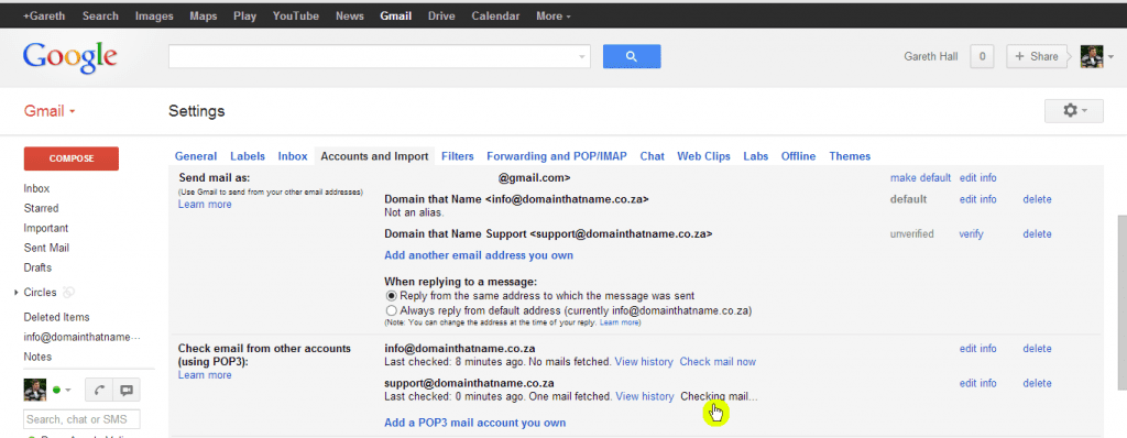 How to add an email account to Gmail - Step 10