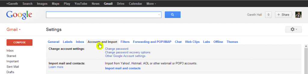 How to add an email account to Gmail - Step 2