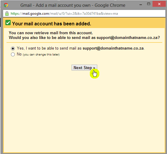 How to add an email account to Gmail - Step 6