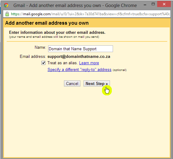 How to add an email account to Gmail - Step 7